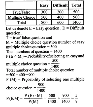 NCERT Solutions for Class 12 Maths Chapter 13 Probability Ex 13.1 Q13.1