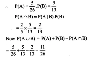 NCERT Solutions for Class 12 Maths Chapter 13 Probability Ex 13.1 Q4.1
