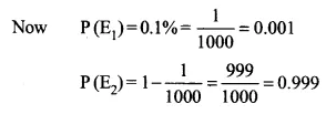 NCERT Solutions for Class 12 Maths Chapter 13 Probability Ex 13.3 Q5.1