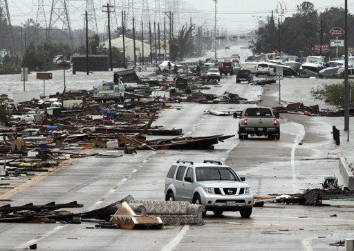 Aftermath after Hurricane Ike