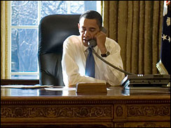 President Obama in the Oval Office