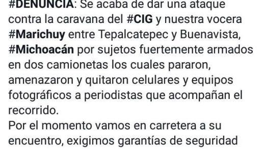 Brinda Michoacán atención a periodistas víctimas de robo en caravana de Marichuy