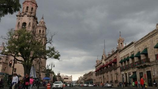 Mal clima en la capital michoacana