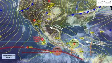 "Clima: ""Bud"" tocará tierra hoy, habrá fuertes tormentas"