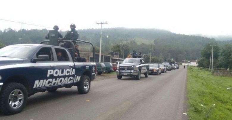 Policía Michoacan despliega operativo en Nahuatzen