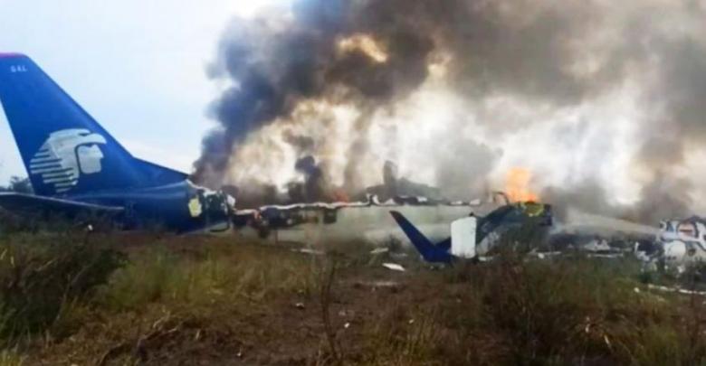 Sobrevivieron 103 en la caída del avión en Durango