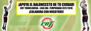 Banner para colaboradores del equipo del CBT en Liga EBA