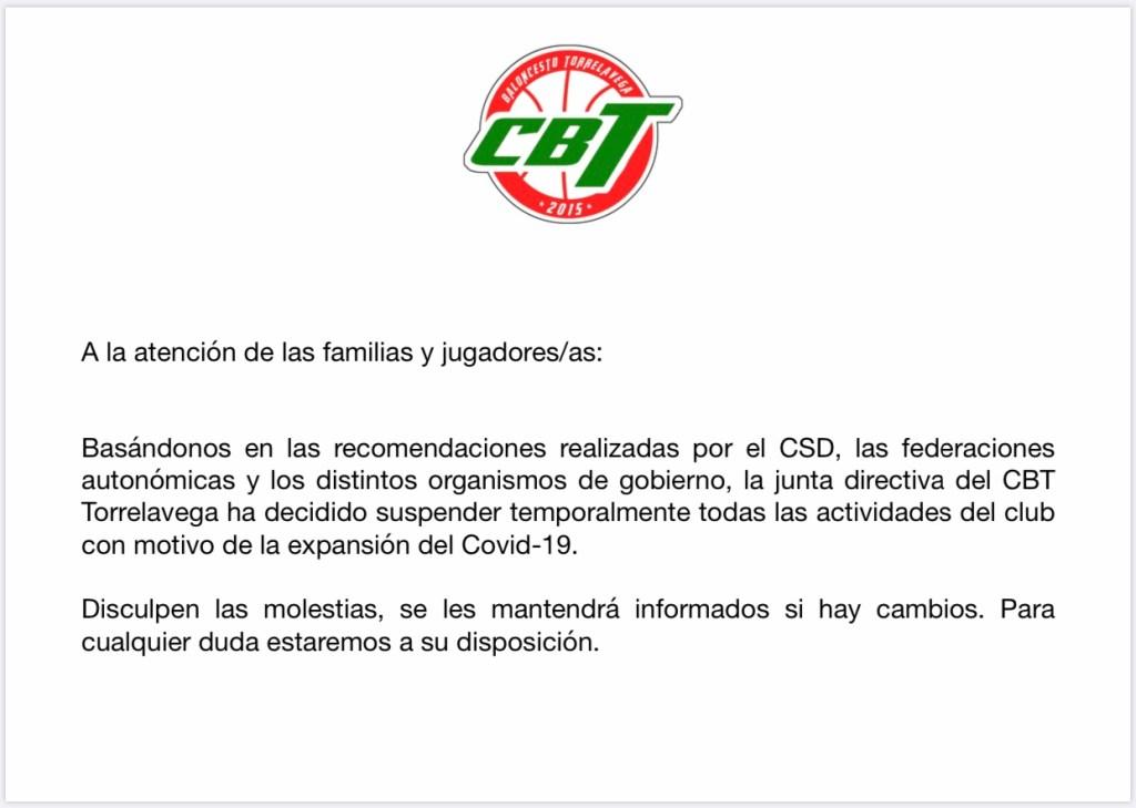 Comunicado CBT Torrelavega