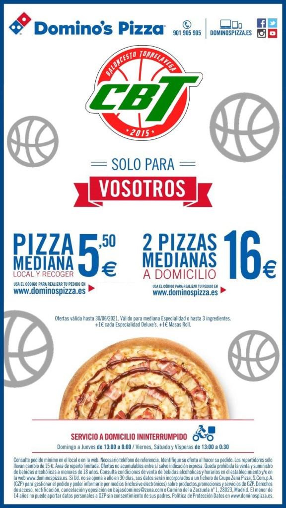 Promoción Domino's Pizza para el CBT Torrelavega