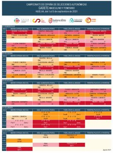 Calendario Cadete SSAA 2021