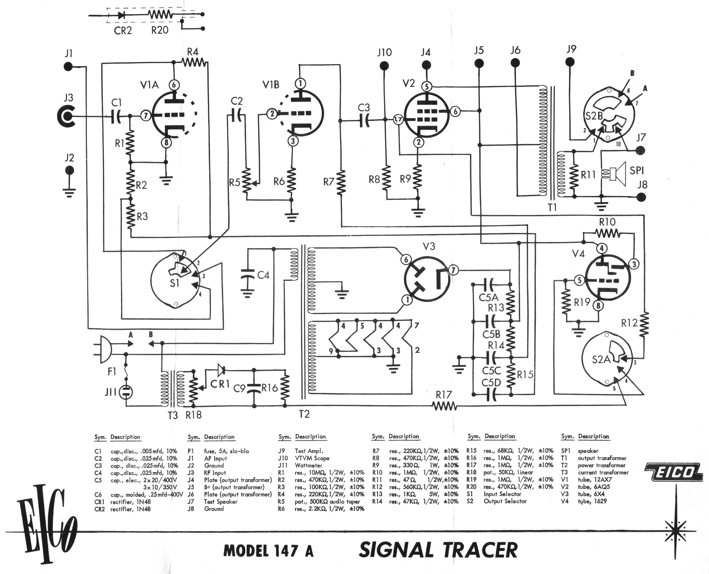 Eico Model 147a Signal Tracer