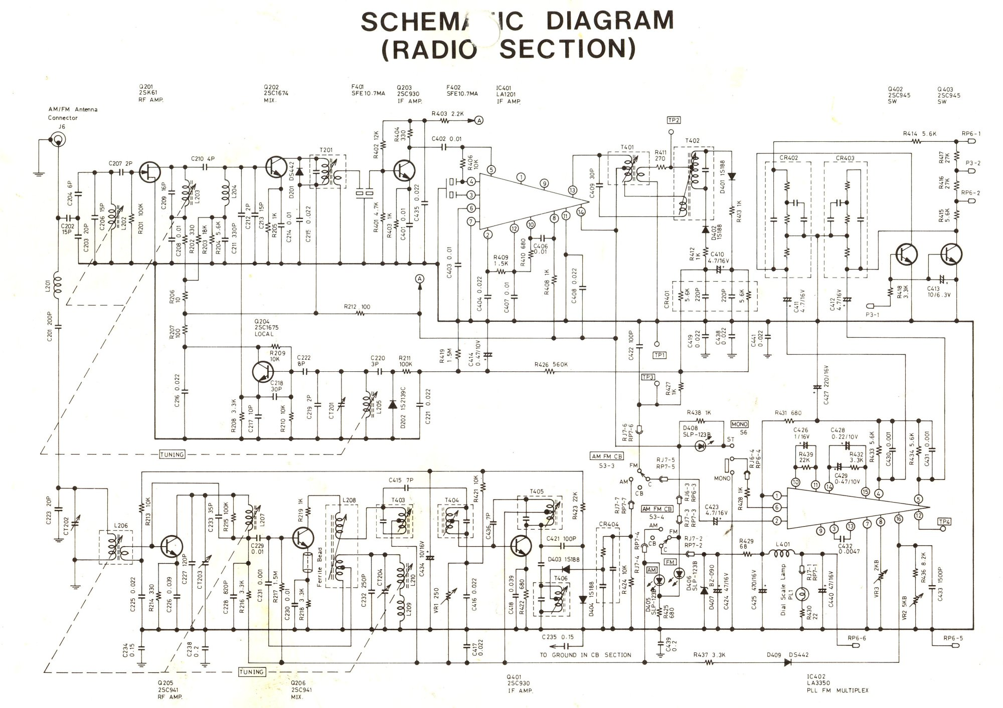 hight resolution of am fm radio chassis schematic mic wiring