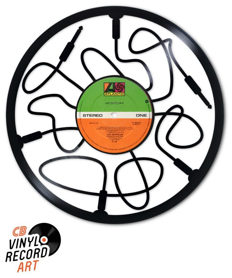deco murale sur disque vinyle recycle