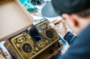 customized design of the berlin boombox