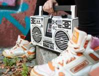 berlin boombox and sneakers