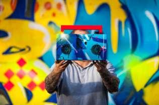 grafitti and customized berlin boombox
