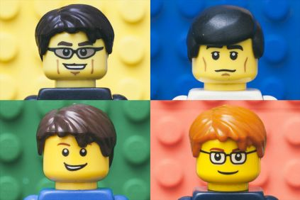 blur, the band, made from lego