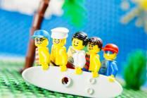 beach boys made from lego