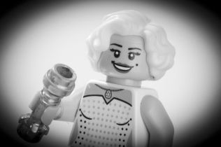 marilyn monroe made from lego
