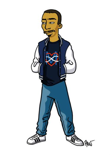 simpsonized by adn, dj mehdi