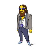simpsonized by adn, sebastien tellier