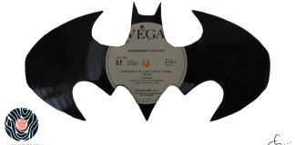 handmade vinyl record art by cb... - Batman signal