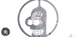 handmade vinyl record art by cb... - Bender, Futurama