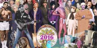 Sgt. Pepper's'-style homage, to dead artists in 2016 by Chris Barker