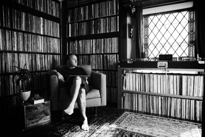 roger and his record collection