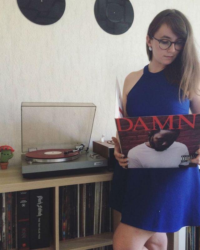 hello vinyl holds an album of damn