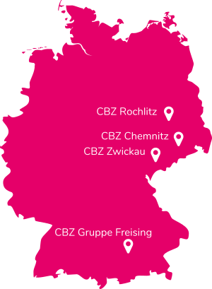 Kartenansicht mit Standorten der CBZ-Gruppe