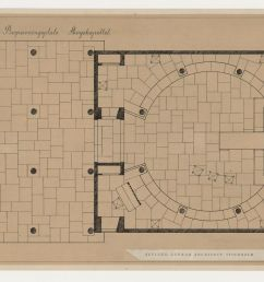 ground plan for woodland chapel showing furniture placement and tile flooring woodland cemetery stockholm [ 1400 x 883 Pixel ]