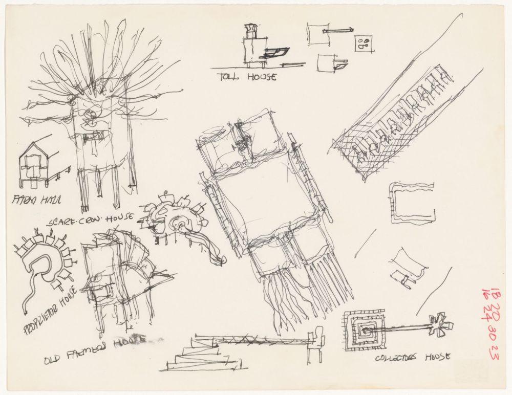 medium resolution of john hejduk objects lancaster hanover masque 1980 1982 cca dr1988 0291 027