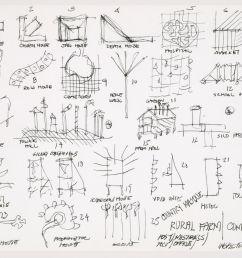 john hejduk sketches for characters lancaster hanover masque 1980 1982 cca dr1988 0291 015 [ 1920 x 1507 Pixel ]