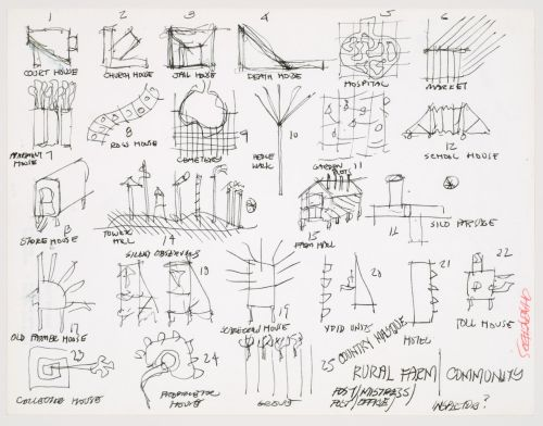 small resolution of john hejduk sketches for characters lancaster hanover masque 1980 1982 cca dr1988 0291 015
