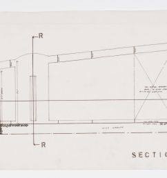 section pp of bedroom and elevation of chair storage area between 1955 and 6 march 1956 dr1995 0029 [ 1920 x 841 Pixel ]