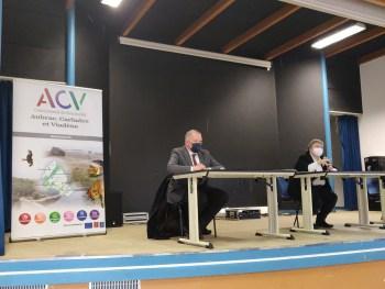 Temps échange maires Préfète Aveyron Valérie Michel-Moreaux CCACV