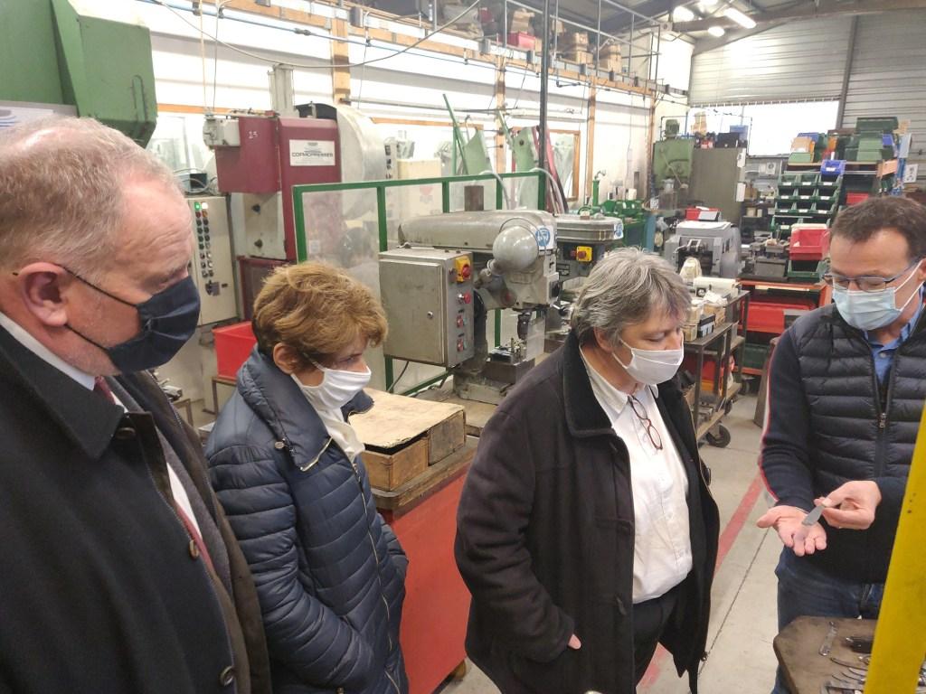 visite coutellerie couteau Laguiole Préfète Aveyron Valérie Michel-Moreaux Jean Valadier Honoré Durand CCACV
