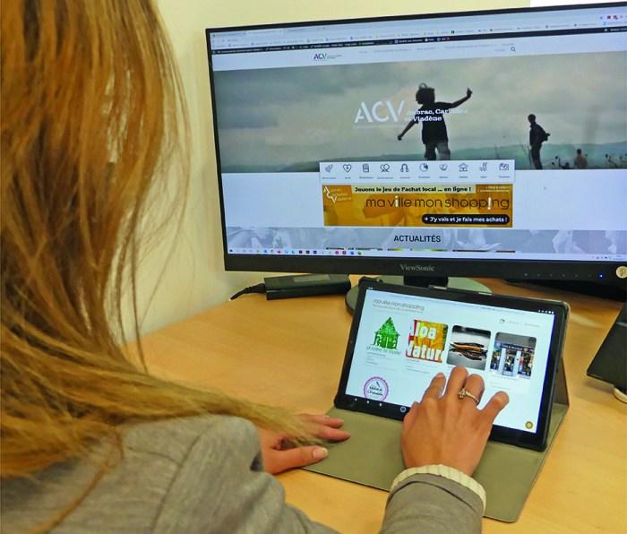 MVMS CCACV tablette commerces consommation locale vente en ligne