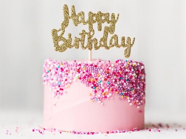 Cute Initial Wallpaper Birthday Cake Sprinkles Cakes