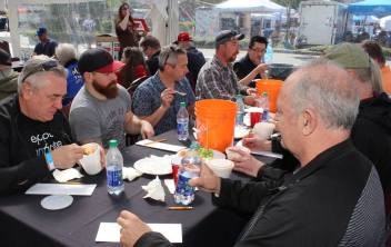 Chili judges take their work seriously!