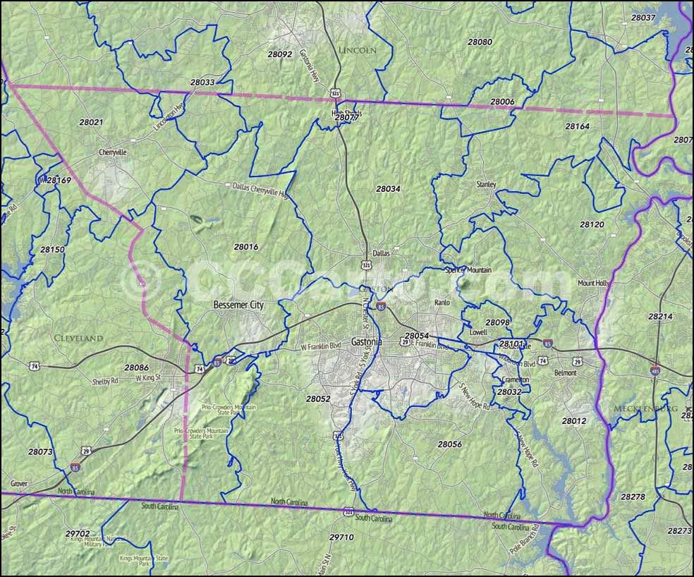 Nc Gastonia Maps