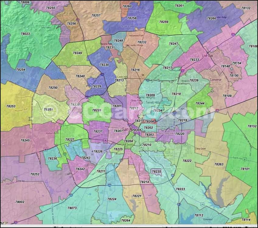 Map Victoria Tx Zip Code