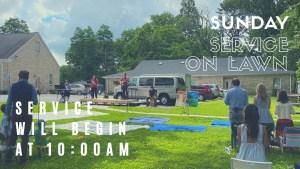 Service on Lawn 10:00