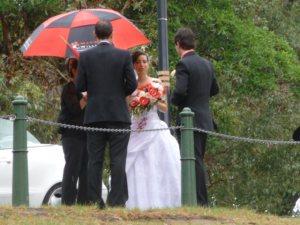 Bride ready for rain