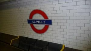 The Underground - St. Paul's station