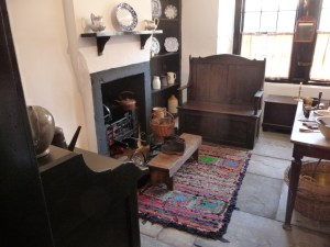 Interior of cottage,living area