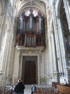 The organ at St. Eustache
