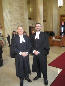 Barry W. Bussey and Derek Ross, Counsel for CCCC (written submissions only) at the attendance of the Loyola High School Case on March 24, 2014 at the Supreme Court of Canada.
