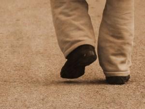 Feet walking away